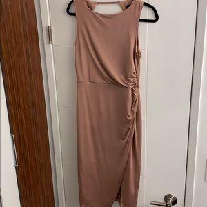 Blush Wrap Midi Dress by Topshop